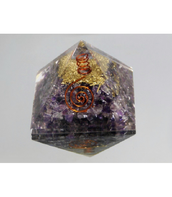 PIRAMIDE ORGONITE 7x7cm AMATISTA