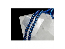HILO HEMATITE COLOR BOLA 6MM, AZUL/0131HH