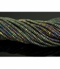 Hilo lenteja hematite color arcoiris mate 4mm
