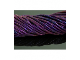 Hilo lenteja hematite color purpura mate 4mm