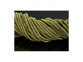HILO HEMATITE COLOR LENTEJA MATE 4MM, ORO/0162HH
