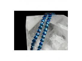 Hilo corazon hematite color azul añil