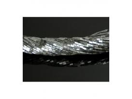 Hilo rectangulo hematite color plata