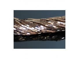 HILO HEMATITE COLOR RECTANGULOS 5x2mm, COBRE/0180HH