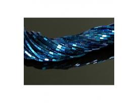Hilo rectangulo hematite color azul añil