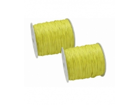ROLLO CORDÓN AMARILLO FINO 1.5mm -30mts-