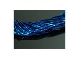 Hilo prisma hematite color azul añil 5x3mm