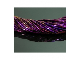 Hilo Prisma hematite color purpura 6x4mm