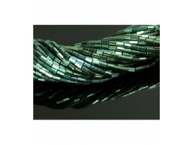 Hilo prisma hematite color verde 5x2mm