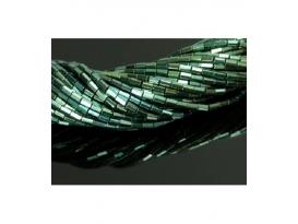 Hilo prisma hematite color verde 5x2mm