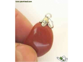 Colgante rodado jaspe rojo aries (10ud)