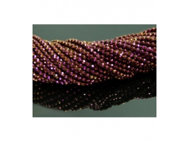 Hilo bola tallada hematite color purpura 4mm