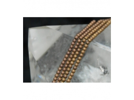 HILO HEMATITE COLOR BOLA MATE 3MM, COBRE/0206HH