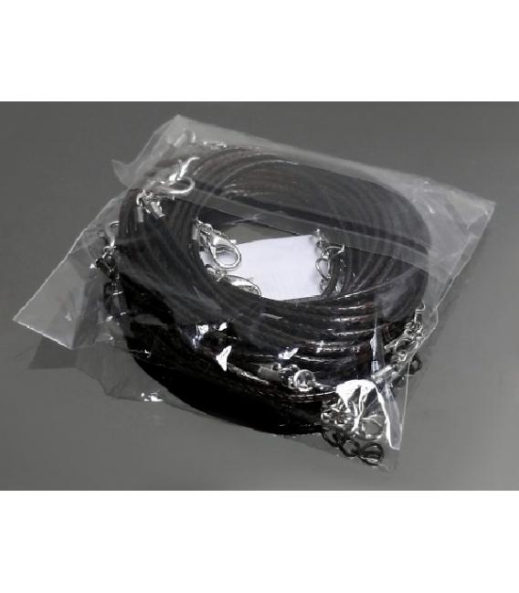 Gargantilla cordón negro algodón (10ud)