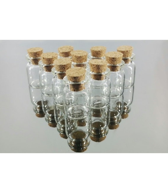 LOTE BOTELLA MINI CRISTAL (10 botellas)