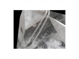 Cadena plata eslavon trenzada mini 70cm 2ud