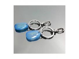 Llavero rodao agata azul(2ud)