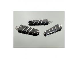 Colgante punta diseño shungita(3ud)