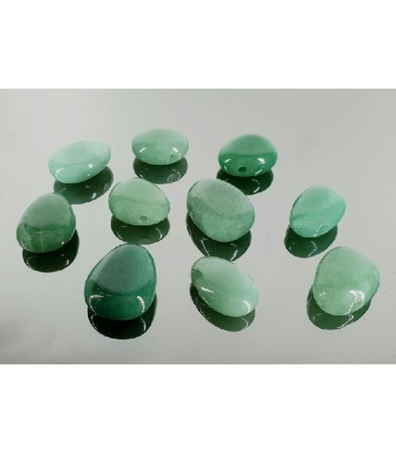 Colgante caramelito cuarzo verde(10ud)