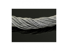 Hilo hematite color plata 2mm