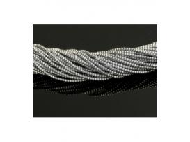 Hilo hematite color plata 2mm