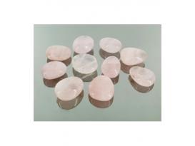 Colgante caramelito cuarzo rosa(10ud)
