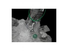 Colgante brujita cuarzo verde plata(5ud)