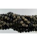 Hilo bola obsidiana dorada 10mm