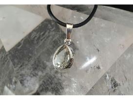 Colgante gema cuarzo prasio plata(2ud)