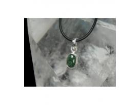Colgante cabujon esmeralda plata(3ud)