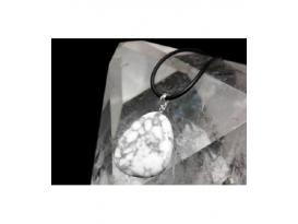 Colgante rodado plano magnesita plata (5ud)