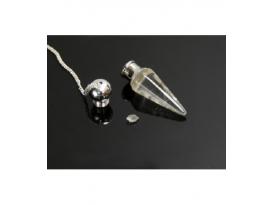 Lote péndulo cofre alta vibración cuarzo (10ud)