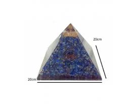 PIRÁMIDE ORGONITE 20x20cm LAPISLAZULI (1ud)