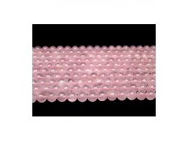Hilo bola cuarzo rosa 10mm primera