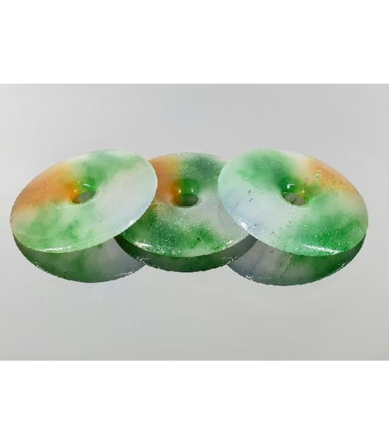 COLGANTE DONUT JADE TRES COLORES 45/50MM (3ud)