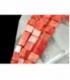 Hilo dado coral manzana 6mm
