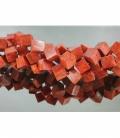 Hilo cubo coral manzana 12x12mm