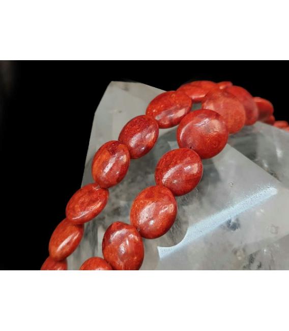 Hilo circulo coral manzana estabilizado 20mm