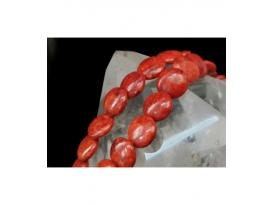 Hilo circulo coral manzana 18mm