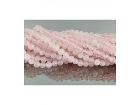 Hilo bola cuarzo rosa 6mm comercial