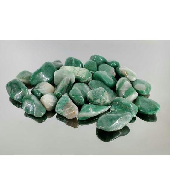 Rodado cuarzo verde pequeño oferta (1kg)