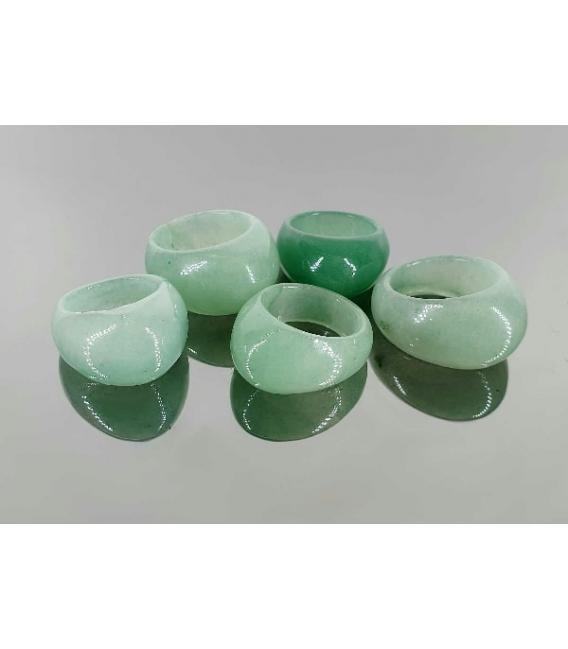 Anilllo grueso cuarzo verde (5ud)