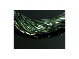 Hilo rectangulo hematite color verde 4x2mm