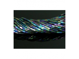 Hilo prisma hematite color arcoiris 5x3mm