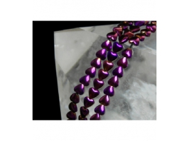Hilo corazon hematite color purpura