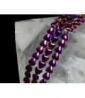 Hilo corazon hematite color purpura