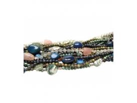 collar /pulsera bola minerales variados