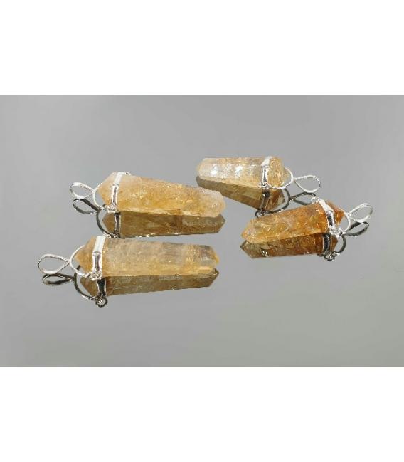 Colgante pendulo citrino plata (2ud)