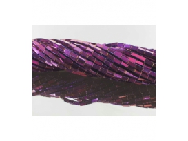 Hilo rectangulo hematite color purpura