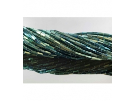 Hilo prisma hematite color verde 5x3mm